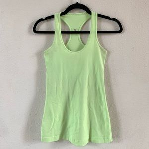 LULULEMON Soft/Light Green Tank Top